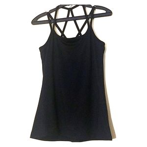 GAIAM Black Strappy Yoga Tank Top Size XS